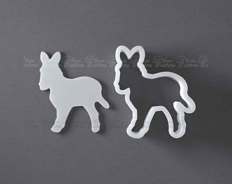 Donkey cookie cutter, 3D printed,                       animal cutters, animal cookie cutters, farm animal cookie cutters, woodland animal cookie cutters, elephant cookie cutter, dinosaur cookie cutters, princess crown cookie cutter, peppa pig cookie cutter near me, anatomical cookie cutter, valentine's day cookie cutters, pampered chef mini cookie cutters, sunshine cookie cutter, construction cookie cutters michaels, dog treat cookie cutters,