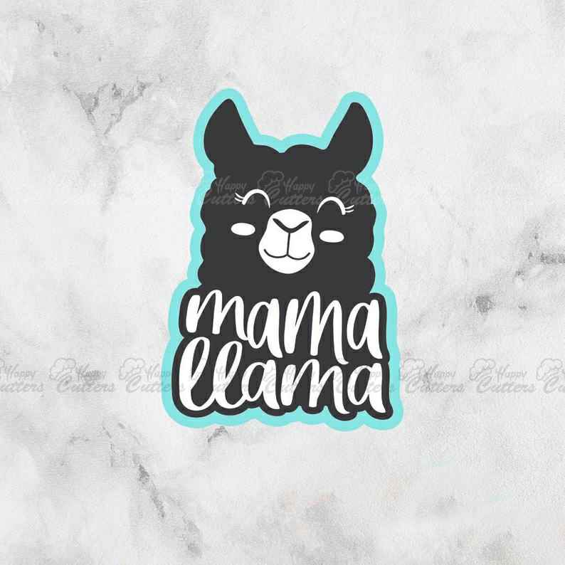 Mama Llama Cutter | Mom Cutter | Mother's Day | Fondant Cutter,                       letter cookie cutters, cursive letter cookie stamp, cursive letter fondant cutters, fancy letter cookie cutters, large letter cookie cutters, letter shaped cookie cutters, knight cookie cutter, baby shaped cookie cutters, scandinavian cookie cutters, baby animal cookie cutters, dinosaur cookie cutters, koala cookie cutter, vintage tupperware cookie cutters, vintage metal cookie cutters,