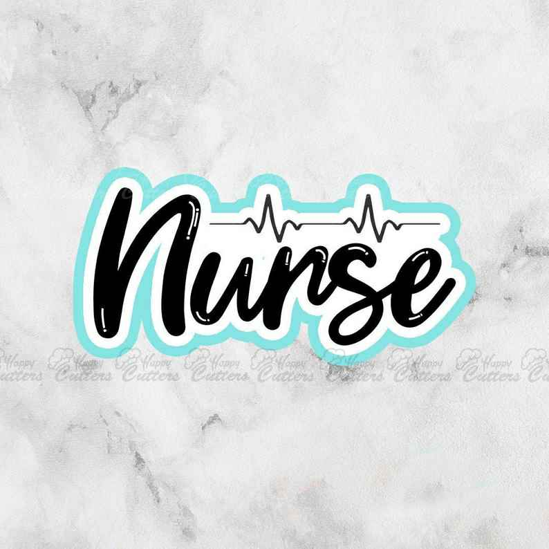 Nurse Cutter | RN Cutter | Nurse Appreciation | Fondant Cutter,                       letter cookie cutters, cursive letter cookie stamp, cursive letter fondant cutters, fancy letter cookie cutters, large letter cookie cutters, letter shaped cookie cutters, mickey gingerbread cookie cutter, baby romper cookie cutter, weed shaped cookie cutter, christening cookie cutters, baby shower cookie cutter set, triceratops cookies, coco chanel cookie cutter, copper christmas cookie cutters,