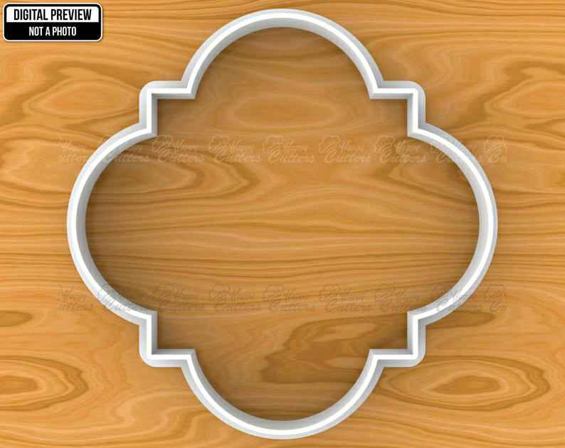 Islamic Quatrefoil Traditional Pattern Tile Plaque Cookie Cutter, Selectable sizes, Sharp Edge Upgrade Available SKU1378,                       plaque cookie cutter, plaque cookie, square plaque cookie cutter, cookie plaque, shape cutters, round cookie cutters, baby shower cookie cutters, music note fondant cutter, first birthday cookie cutter, jack o lantern cookie cutter, dog paw cookies, giant cookie cutters uk, sweet cutters, love heart cutter,