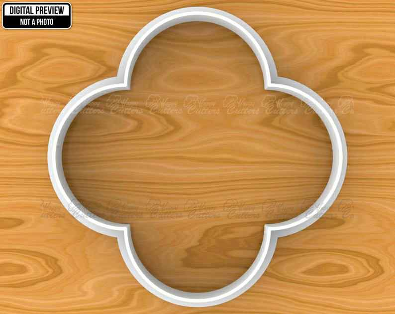 Islamic Quatrefoil Traditional Pattern Tile Plaque Cookie Cutter, Selectable sizes, Sharp Edge Upgrade Available SKU1374,                       plaque cookie cutter, plaque cookie, square plaque cookie cutter, cookie plaque, shape cutters, round cookie cutters, golden retriever cookie cutter, pumpkin cookie cutter walmart, bee shaped cookie cutter, round cutter baking, mini cake cutter, animal shaped cookie cutters, music note cookie cutter, custom cookie cutters canada,