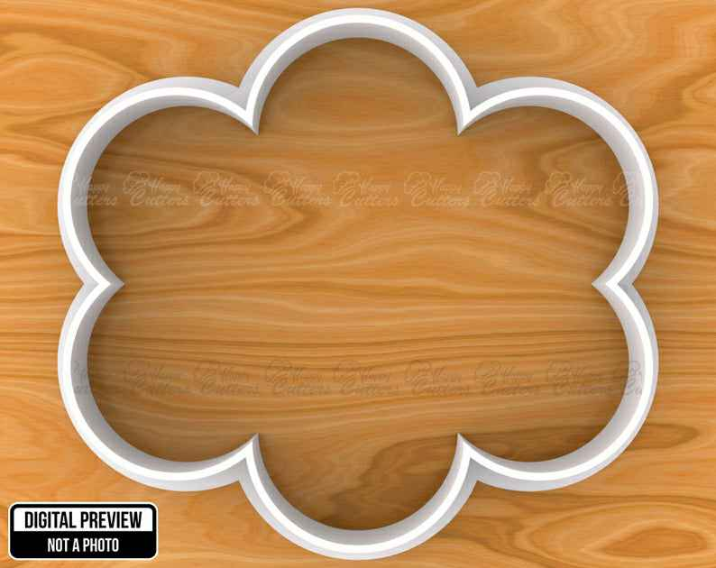 Vintage Cloud Plaque Frame Cookie Cutter, Selectable sizes, Sharp Edge Upgrade Available SKU1040,                       plaque cookie cutter, plaque cookie, square plaque cookie cutter, cookie plaque, shape cutters, round cookie cutters, dog bone cookie cutter michaels, pig cutter, campfire cookie cutter, cloud shaped cookie cutter, letter b cookie cutter, magic the gathering cookie cutters, football helmet cookie cutter, fish biscuit cutter,