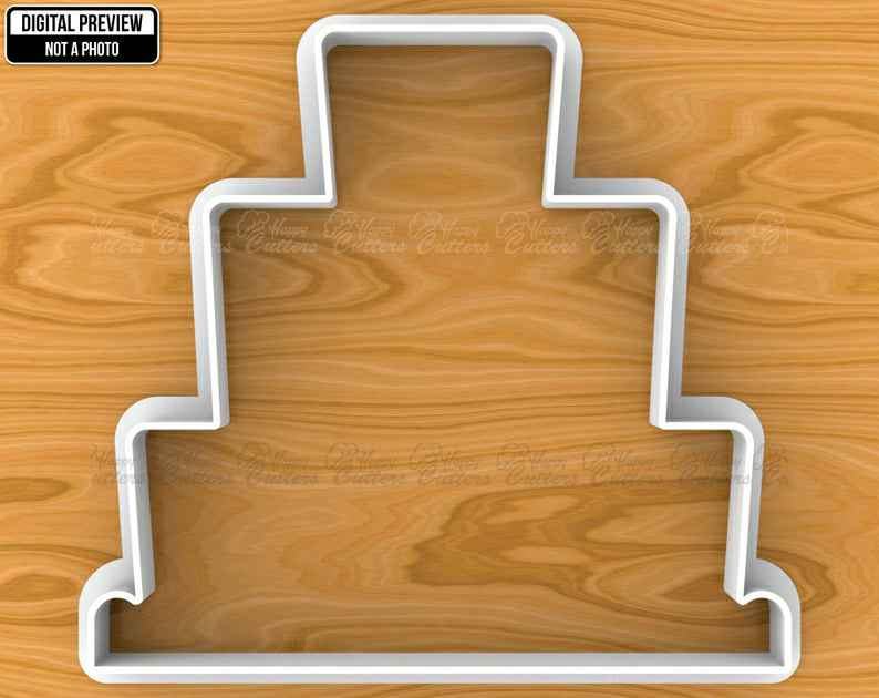 Wedding Cake Cookie Cutter, Selectable sizes, Sharp Edge Upgrade Available SKU1104,                       birthday cookie cutters, happy birthday cookie cutter, birthday cake cookie cutter, happy birthday cookie stamp, baby shower cookie cutters, bridal shower cookie cutters, xmas cutters, cooking cutter, elf on the shelf cookie cutter, little mermaid cookie cutters, dog shaped cookie, star fondant cutter, caterpillar cookie cutter, dog cookie cutters australia,