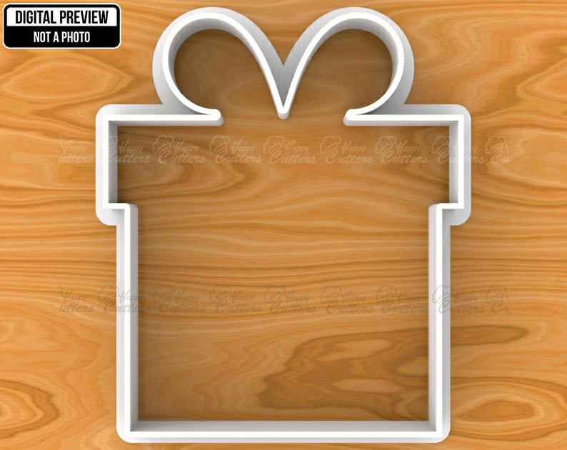 Wedding Present Gift Box with Bow Cookie Cutter, Selectable sizes, Sharp Edge Upgrade Available SKU1102,                       birthday cookie cutters, happy birthday cookie cutter, birthday cake cookie cutter, happy birthday cookie stamp, baby shower cookie cutters, bridal shower cookie cutters, coles cookie cutters, bobbi's cookies and cutters, reindeer head cookie cutter, personalized wedding cookie cutters, coles cookie cutter, cookie cutters, triangle sandwich cutters, wilton cookie cutters walmart,