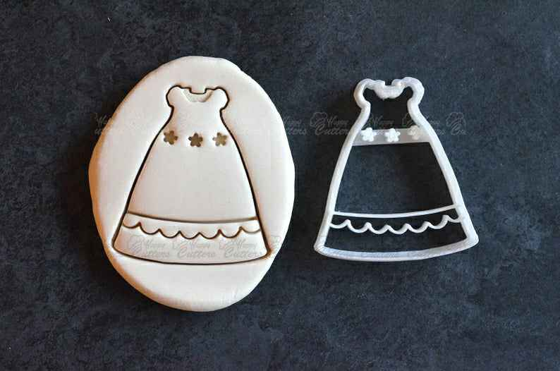 Dress Cookie cutter - Christening dress cookie cutter - Birthday or Babyshower cookie cutter,                       birthday cookie cutters, happy birthday cookie cutter, birthday cake cookie cutter, happy birthday cookie stamp, baby shower cookie cutters, bridal shower cookie cutters, bird cutter, 4 inch alphabet cookie cutters, sneaker cookie cutter, sombrero cookie cutter, man cookie cutter, unicorn face cookie cutter, mini dog bone cookie cutter, sweet sugarbelle christmas cookie cutters,