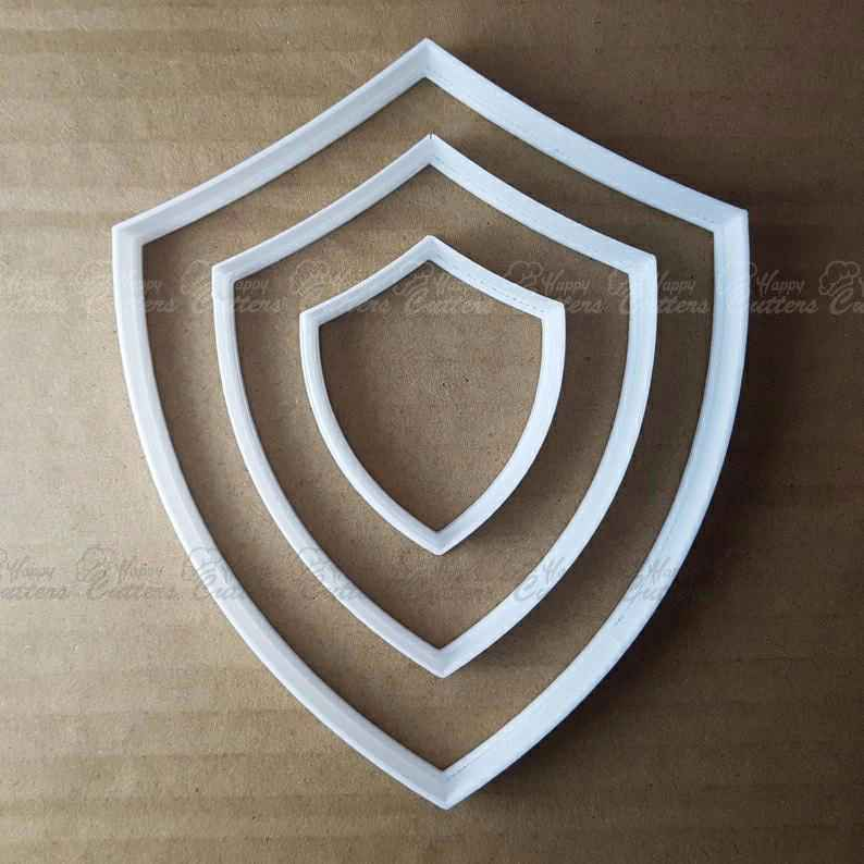 Shield Arms Plaque Armour Shape Cookie Cutter Dough Biscuit Pastry Fondant Sharp Stencil Coat Medieval Knight,                       pirate cookie cutter, knight cookie cutter, pirate ship cookie cutter, castle cookie cutter, crown cookie cutter, axe cookie cutter, animal cutters, peanut shaped cookie cutter, personalized cookie cutter, sweet sugarbelle mini, bunny biscuit cutter, ugly christmas sweater cookie cutter, square plaque cookie cutter, bat cookie cutter,