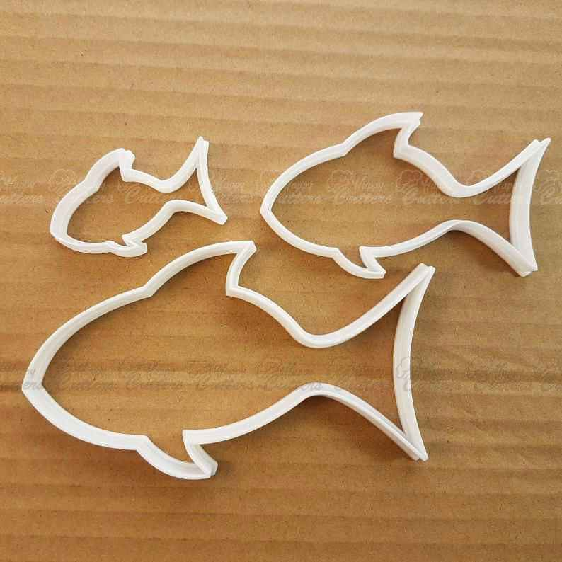Fish Bream Tench Animal Shape Cookie Cutter Dough Biscuit Pastry Fondant Sharp Stencil Ocean Beach Seaside Side Sea Creature Marine,                       ocean cookie cutters, ocean themed cookie cutters, mermaid cookie cutter, mermaid tail cookie cutter, little mermaid cookie cutters, mermaid cutter, mixer cookie cutter, triangle sandwich cutters, cookie cutter shapes, mini star cutter, xmas cutters, wrench cookie cutter, 40 cookie cutter, 8 inch cake cutter,