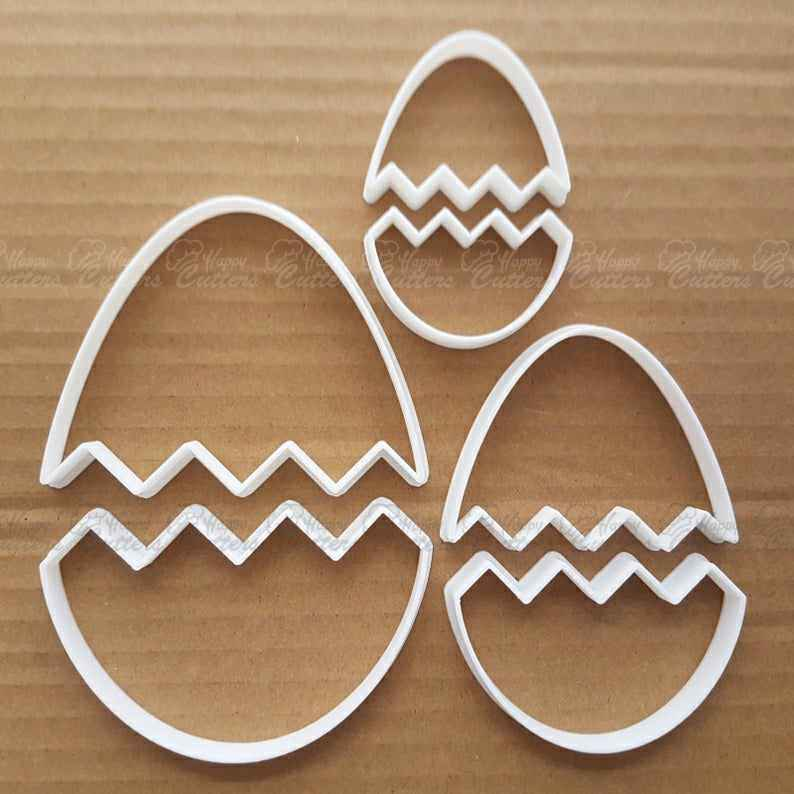 Easter Egg Decoration Cracked Shape Cookie Cutter Dough Chocolate Fondant Sharp Stencil Pastry Biscuit Halves Half Shell,                       easter cookie cutters, easter egg cookie cutter, easter bunny cookie cutter, easter cutters, rabbit cutters, rabbit cookie cutter, sweet 16 cookie cutter, hot air balloon cookie cutter michaels, deep scone cutter, cow cookie cutter, music note fondant cutter, hockey cookie cutters, backpack cookie cutter, circle fondant cutter,