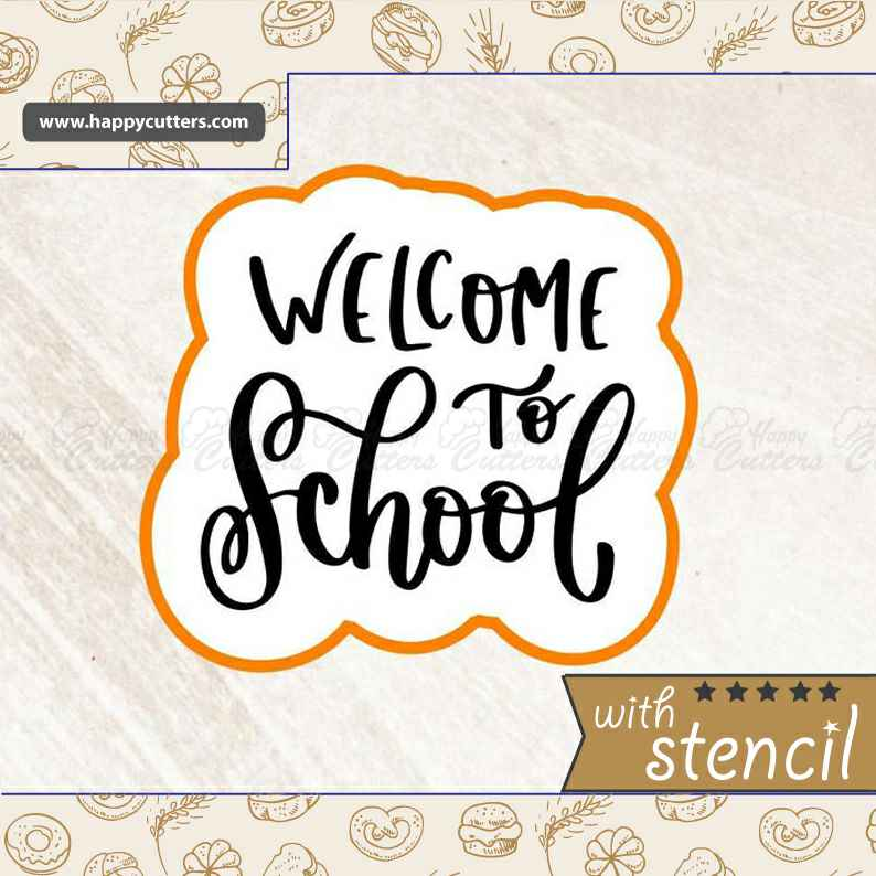 Welcome to School Cookie Cutter,                       letter cookie cutters, cursive letter cookie stamp, cursive letter fondant cutters, fancy letter cookie cutters, large letter cookie cutters, letter shaped cookie cutters, number 1 cookie cutter, heart cookie cutter michaels, eyelash cookie cutter, miniature christmas cookie cutters, nutcracker cookie cutter, john deere cookie cutter, canadian cookie cutters, cookie cutter urban,