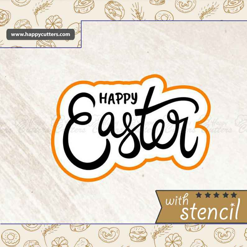 Happy Easter 1 Cookie Cutter,                       letter cookie cutters, cursive letter cookie stamp, cursive letter fondant cutters, fancy letter cookie cutters, large letter cookie cutters, letter shaped cookie cutters, antler cookie cutter, cookie cutter world, shape shifter cookie cutters, karate cookie cutters, horseshoe cookie cutter, wrench cookie cutter, square cookie cutter set, fire engine cookie cutter,