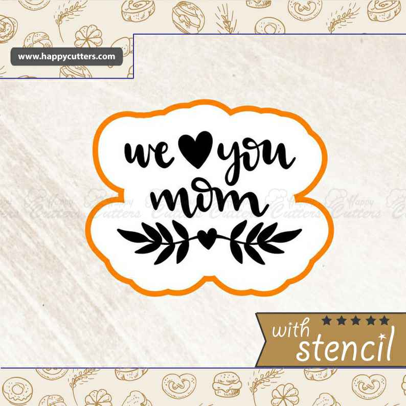 We Love You Mom Cookie Cutter,                       letter cookie cutters, cursive letter cookie stamp, cursive letter fondant cutters, fancy letter cookie cutters, large letter cookie cutters, letter shaped cookie cutters, wilton cookie cutters walmart, sausage dog cookie cutter, brass cookie cutters, large dinosaur cookie cutters, shell cookie cutter, cool cookie shapes, pokemon cookie cutters, hand cookie cutter,