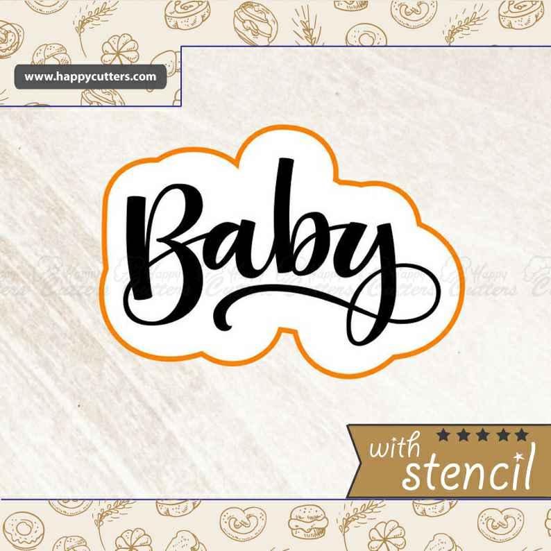 Baby 3 Hand Lettered,                       letter cookie cutters, cursive letter cookie stamp, cursive letter fondant cutters, fancy letter cookie cutters, large letter cookie cutters, letter shaped cookie cutters, lab cookie cutter, small cookie cutters for fruit, square biscuit cutter, teepee cookie cutter, gingerbread man cookie cutter walmart, sloth cookie cutter, sea turtle cookie cutter, cookie cutter press,