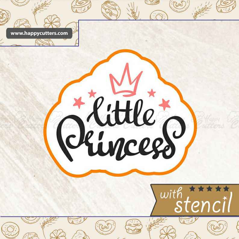 Little Princess,                       letter cookie cutters, cursive letter cookie stamp, cursive letter fondant cutters, fancy letter cookie cutters, large letter cookie cutters, letter shaped cookie cutters, peppa pig cookie cutter canada, puzzle piece cookie cutter, fleur de lis cookie, scalloped fondant cutter, alien cookie cutter, christmas shape cutters, truck with christmas tree cookie cutter, geometric cookie cutters,