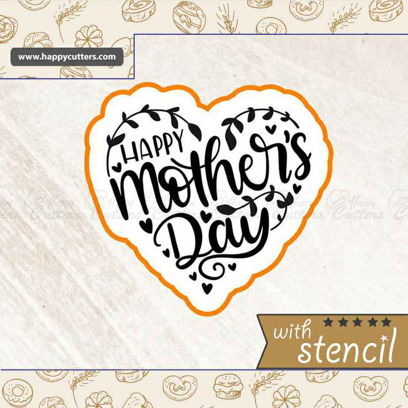 Heart Happy Mothers Day Cookie Cutter,                       letter cookie cutters, cursive letter cookie stamp, cursive letter fondant cutters, fancy letter cookie cutters, large letter cookie cutters, letter shaped cookie cutters, gingerbread cutter kmart, gingerbread man cookie cutter walmart, circus animal cookie cutters, giant gingerbread man cookie cutter, tuxedo cookie cutter, american cookie cutter, dinosaur cookie cutter set, paw print cookie stamp,
