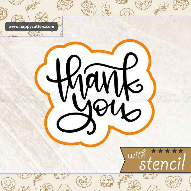 Thank You 7 Cookie Cutter,                       letter cookie cutters, cursive letter cookie stamp, cursive letter fondant cutters, fancy letter cookie cutters, large letter cookie cutters, letter shaped cookie cutters, wilton dinosaur cookie cutters, shape cutters, sweet sugarbelle christmas cookie cutters, meg cookie cutters, monkey cutter, 6 cookie cutter, flamingo cutter, elephant shaped cookie cutter,