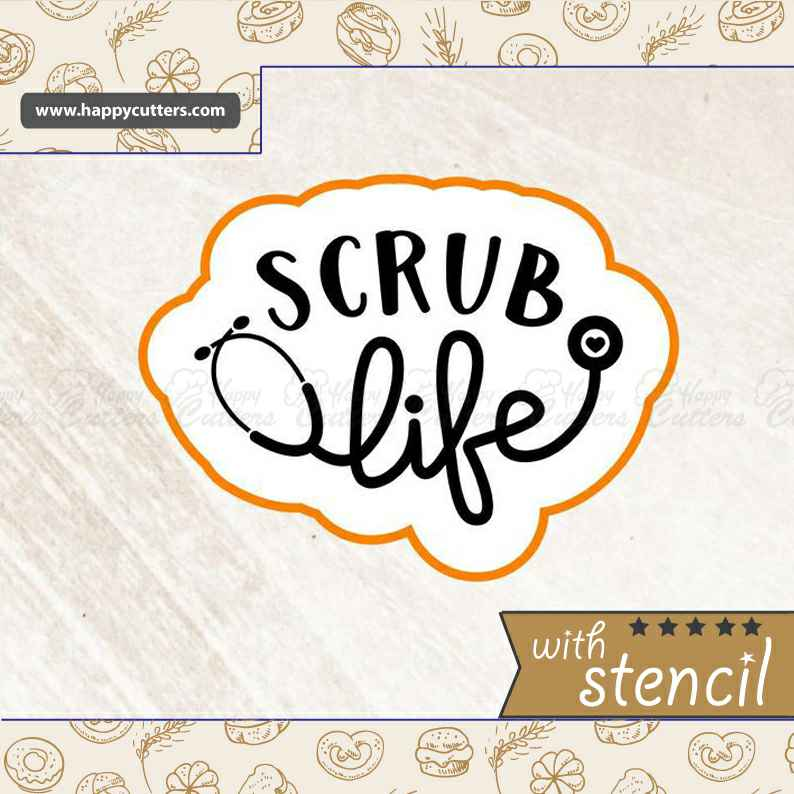 Scrub Life Cookie Cutter,                       letter cookie cutters, cursive letter cookie stamp, cursive letter fondant cutters, fancy letter cookie cutters, large letter cookie cutters, letter shaped cookie cutters, bone cookie cutter, embossed cookie cutters, boy cookie cutter, kids cutter, thomas cookie cutter, avengers cookie cutter, minnie mouse bow cookie cutter, fruit and vegetable shape cutter,