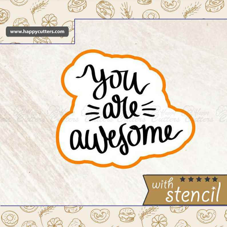 You are Awesome Cookie Cutter,                       letter cookie cutters, cursive letter cookie stamp, cursive letter fondant cutters, fancy letter cookie cutters, large letter cookie cutters, letter shaped cookie cutters, penguin cookie cutter, meri meri sausage dog cookie cutter, cursive letter fondant cutters, sweet sugarbelle cookie cutters, top hat cookie cutter, syringe cookie cutter, small easter cookie cutters, fire truck cookie cutter,