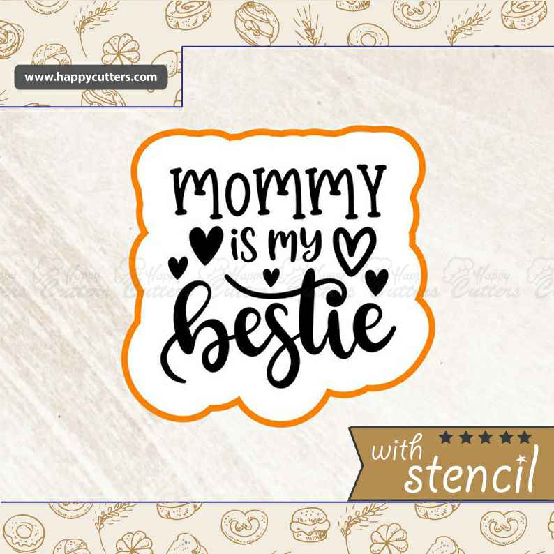 Mommy is My Bestie Cookie Cutter,                       letter cookie cutters, cursive letter cookie stamp, cursive letter fondant cutters, fancy letter cookie cutters, large letter cookie cutters, letter shaped cookie cutters, harry potter cookie cutters uk, brain cookie cutter, paw patrol cutter set, jungle animal cutters, biscuit shape cutters, diamond ring cookie cutter, ship cookie cutter, baby cookie cutters michaels,
