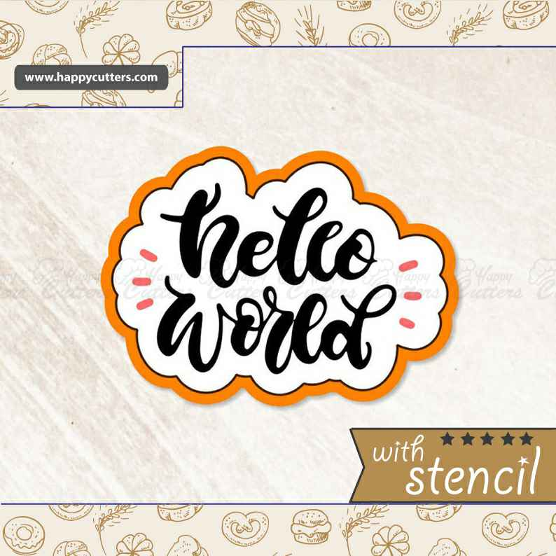 Hello Word Hand Lettered Cookie Cutter,                       letter cookie cutters, cursive letter cookie stamp, cursive letter fondant cutters, fancy letter cookie cutters, large letter cookie cutters, letter shaped cookie cutters, rolling stones cookie cutter, boy cookie cutter, dog cookie cutters australia, octonauts cookie cutters, birkmann cookie stamp, sunflower cookie cutter, speech bubble cookie cutter, under the sea cookie cutters,