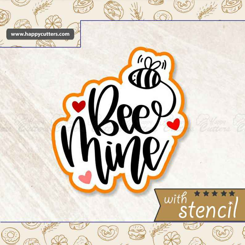 Bee Mine 1 Cookie Cutter,                       letter cookie cutters, cursive letter cookie stamp, cursive letter fondant cutters, fancy letter cookie cutters, large letter cookie cutters, letter shaped cookie cutters, dove cutter, construction cookie cutters, sugarbelle halloween cookie cutters, key shaped cookie cutter, skateboard cookie cutter, mini shape cutters, nordic ware holiday cookie stamps, frozen cookie cutters,