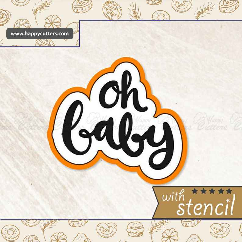 Oh Baby Hand Lettered Cookie Cutter,                       letter cookie cutters, cursive letter cookie stamp, cursive letter fondant cutters, fancy letter cookie cutters, large letter cookie cutters, letter shaped cookie cutters, magic the gathering cookie cutters, cardinal cookie cutter, captain america cookie cutter, graduation cut out cookies, st patrick's day cookie cutter, sheep cookie cutter, beaver cookie cutter, vintage tupperware cookie cutters,