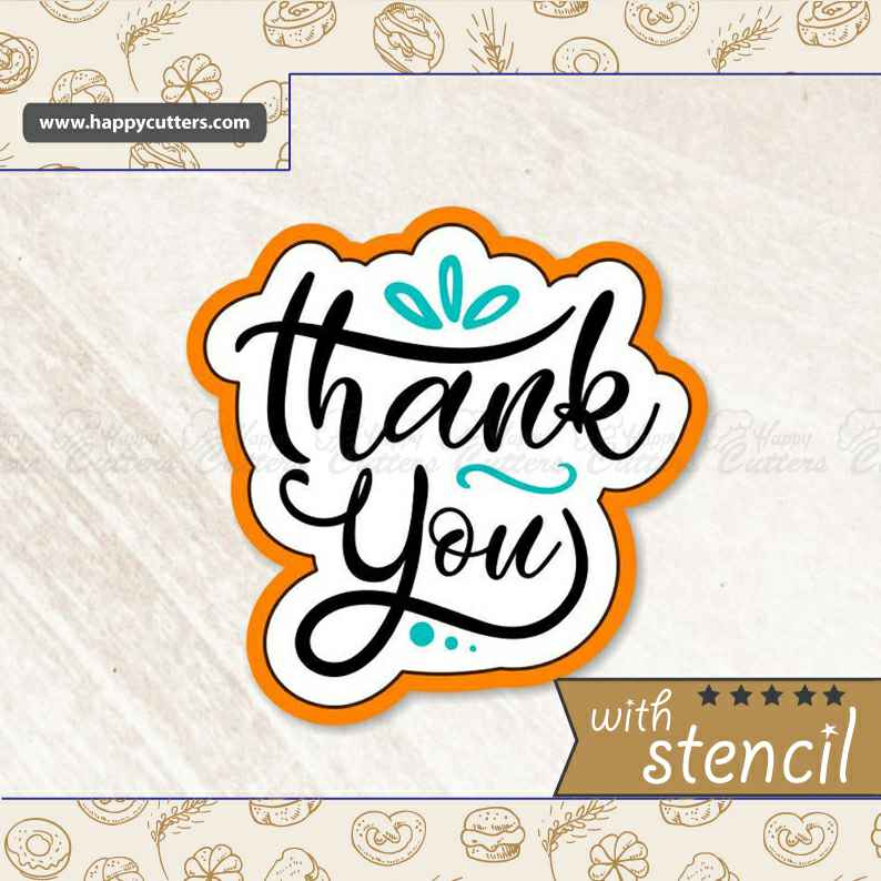 Thank You 4 Cookie Cutter,                       letter cookie cutters, cursive letter cookie stamp, cursive letter fondant cutters, fancy letter cookie cutters, large letter cookie cutters, letter shaped cookie cutters, sandwich cut outs, cutitoutcutters, kaleidacuts cookie cutters, mushroom cookie cutter, music note cookie, st patrick's day cookie cutter, leg lamp cookie cutter, toy story fondant cutters,