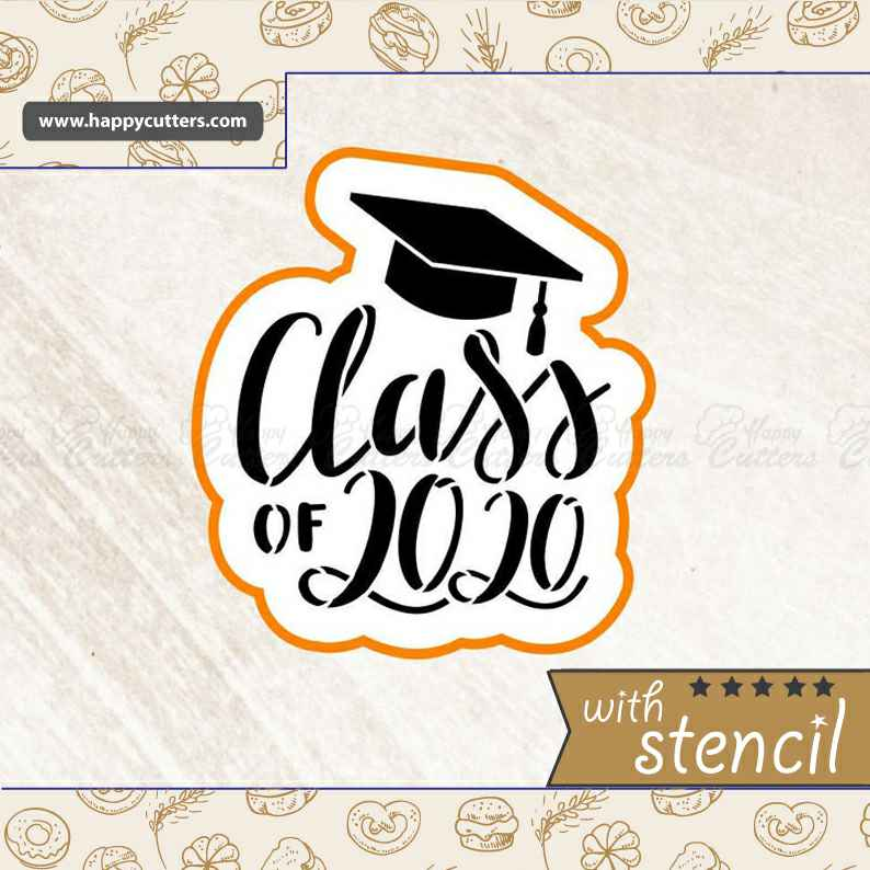 Class of 2020 Graduation,                       letter cookie cutters, cursive letter cookie stamp, cursive letter fondant cutters, fancy letter cookie cutters, large letter cookie cutters, letter shaped cookie cutters, bicycle fondant cutter, wave cookie cutter, one piece cookie cutter, wooden cookie stamps, square unicorn cookie cutter, dragon egg cookie cutter, beyblade cookie cutter, milk bottle cookie cutter,