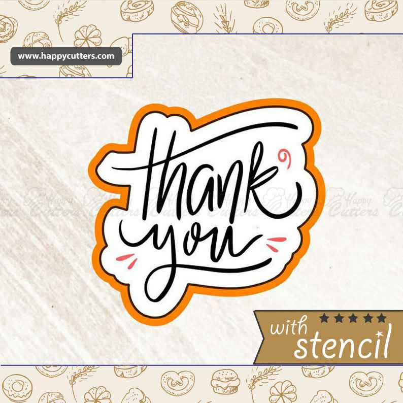 Thank You 5 Cookie Cutter,                       letter cookie cutters, cursive letter cookie stamp, cursive letter fondant cutters, fancy letter cookie cutters, large letter cookie cutters, letter shaped cookie cutters, ghostbuster cookie cutter, pac man cookie cutter, small biscuit cutter, large dog bone cookie cutter, 100 piece cookie cutter set, mini cake cutter, cookie stamps canada, knight cookie cutter,