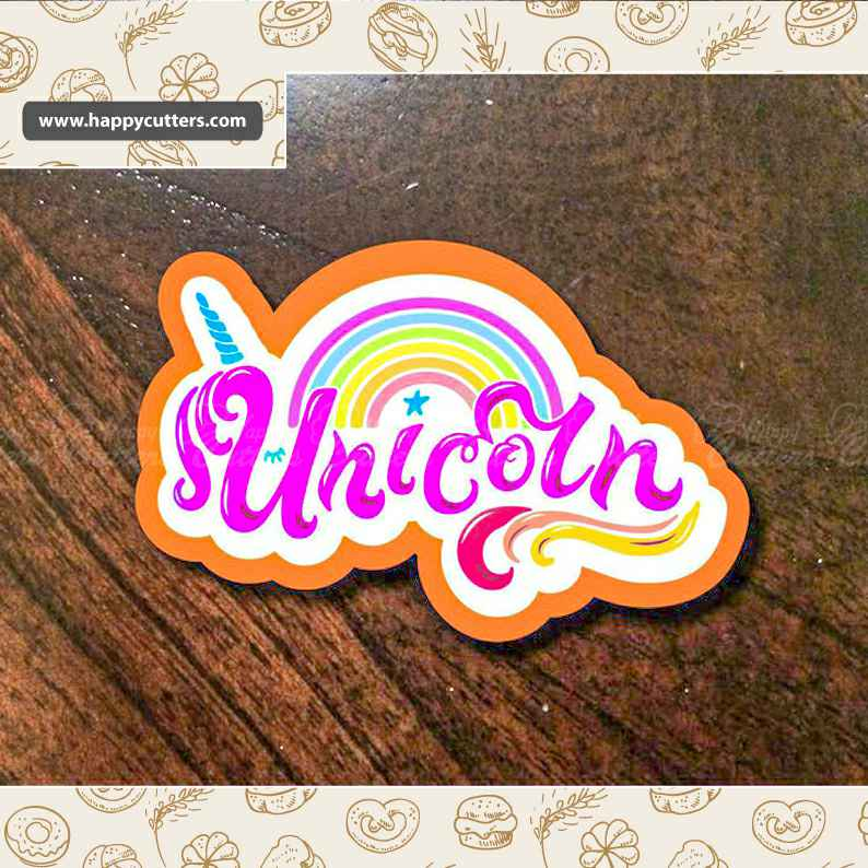 Unicorn Text Cookie Cutter, Unicorn Party Supplies, Unicorn Birthday Supplies,                       letter cookie cutters, cursive letter cookie stamp, cursive letter fondant cutters, fancy letter cookie cutters, large letter cookie cutters, letter shaped cookie cutters, airplane cutter, santa claus cookie cutter, cassette tape cookie cutter, tupperware biscuit cutter, hello kitty cutter, heart shaped cookie cutter dollar store, bunny shaped cookie cutter, german cookie cutters,