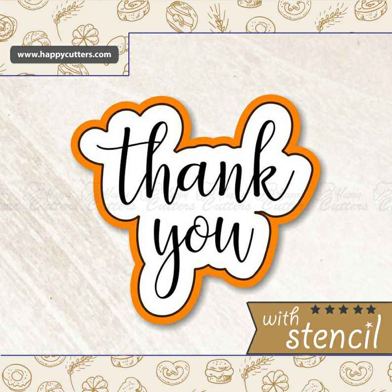 Thank You 3 Cookie Cutter,                       letter cookie cutters, cursive letter cookie stamp, cursive letter fondant cutters, fancy letter cookie cutters, large letter cookie cutters, letter shaped cookie cutters, truly mad plastic, super mario cookie cutter set, minion cookie cutter, number 6 cookie cutter, apron cookie cutter, halloween cookie cutters michaels, giant cookie cutters, llama cutter,