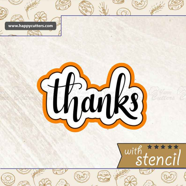 Thanks 1 Cookie Cutter,                       letter cookie cutters, cursive letter cookie stamp, cursive letter fondant cutters, fancy letter cookie cutters, large letter cookie cutters, letter shaped cookie cutters, cowboy boot cookie cutter michaels, meri meri halloween cookie cutters, vintage tupperware cookie cutters, stag cookie cutter, dog face cookie cutter, basketball cookie cutter, geometric cookie cutters, teddy bear cookie cutter,