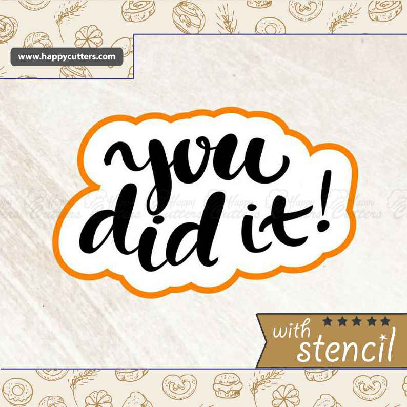 You Did it Cookie Cutter,                       letter cookie cutters, cursive letter cookie stamp, cursive letter fondant cutters, fancy letter cookie cutters, large letter cookie cutters, letter shaped cookie cutters, polar bear cookie cutter, kawaii cookie cutters, custom made cookie cutters, honey pot cookie cutter, kidney shaped cookie cutter, truck with christmas tree cookie cutter, wedding cookie cutters michaels, steel cookie cutters,