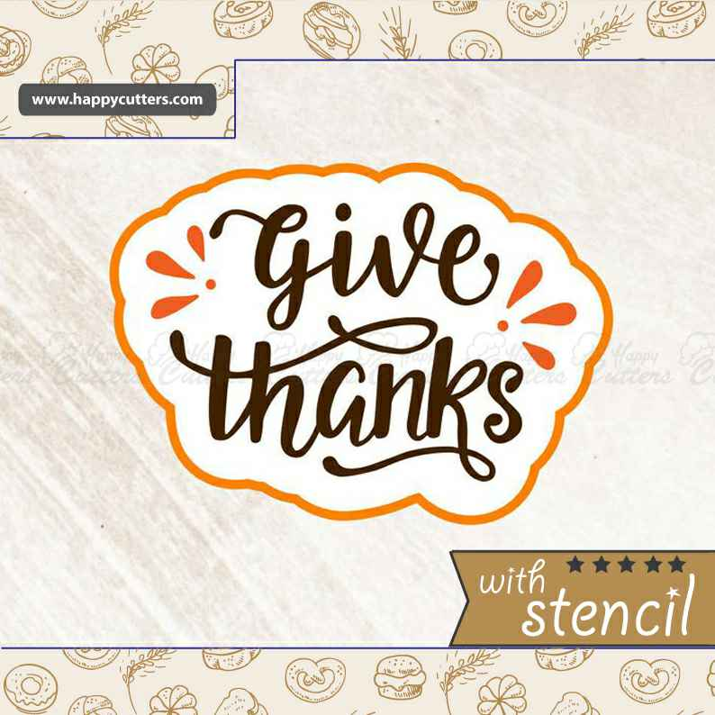 Give Thanks,                       letter cookie cutters, cursive letter cookie stamp, cursive letter fondant cutters, fancy letter cookie cutters, large letter cookie cutters, letter shaped cookie cutters, thank you cookie cutter, wedding ring cookie cutter, weed cookie cutter, autumn leaf cookie cutter, gem cookie cutter, 2019 cookie cutter, cool cookie cutters, wilton gingerbread cookie cutter,