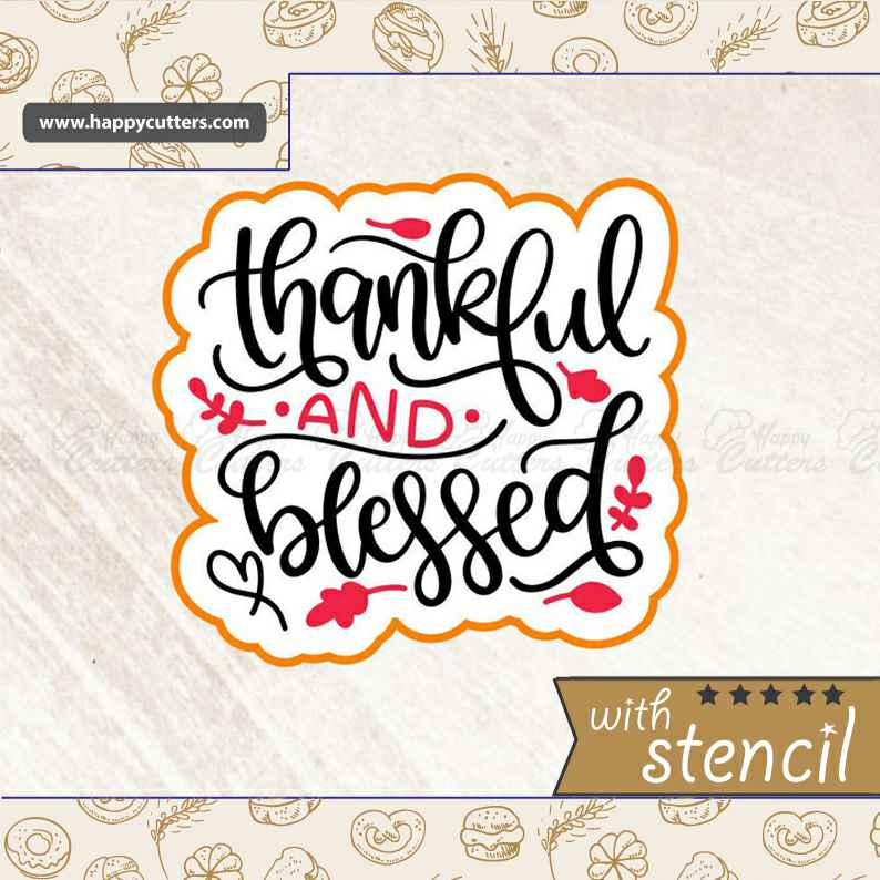 Thankful and Blessed 2,                       letter cookie cutters, cursive letter cookie stamp, cursive letter fondant cutters, fancy letter cookie cutters, large letter cookie cutters, letter shaped cookie cutters, grizzly bear cookie cutter, iron man cookie cutter, tiny star cookie cutter, alpaca cookie cutter, large letter cookie cutters, wilton harry potter cookie cutters, kaleidacuts baby, witch hat cookie cutter,