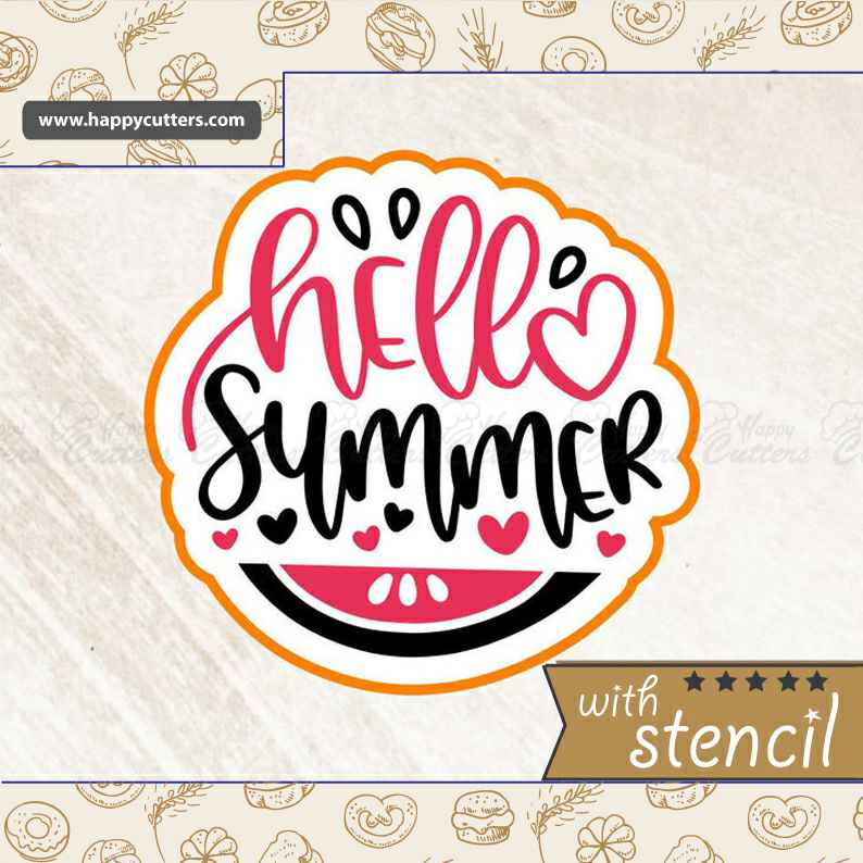 Hello Summer Cookie Cutter,                       letter cookie cutters, cursive letter cookie stamp, cursive letter fondant cutters, fancy letter cookie cutters, large letter cookie cutters, letter shaped cookie cutters, minnie mouse cookie cutter michaels, tardis cookie cutter, fish cookie cutters, christmas cookie cutters ireland, liliao cookie cutters, small cookie cutters for dog treats, key shaped cookie cutter, care bear cookie cutter,