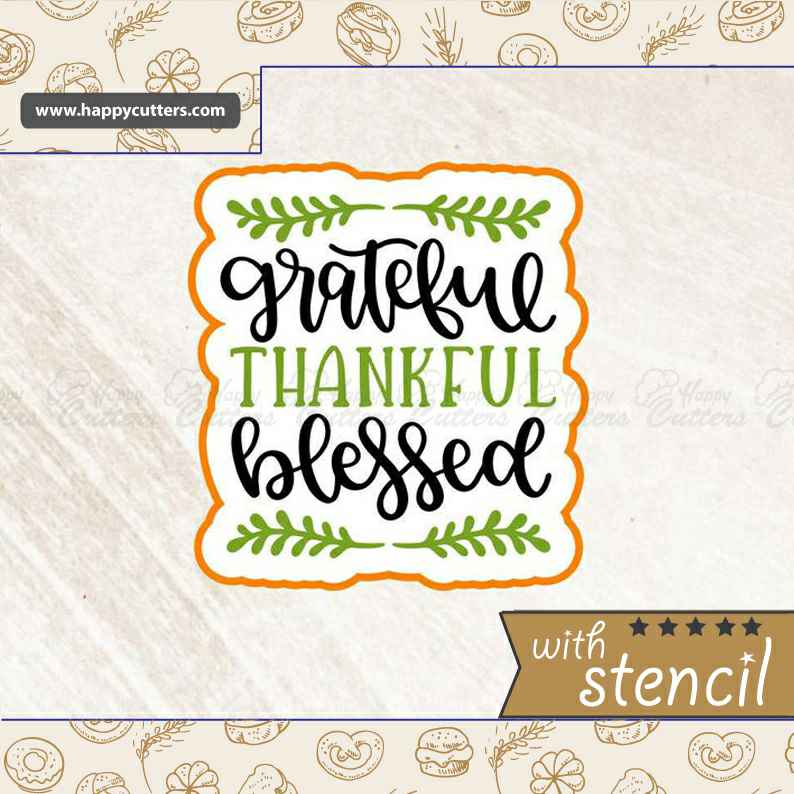Grateful Thankful Blessed,                       letter cookie cutters, cursive letter cookie stamp, cursive letter fondant cutters, fancy letter cookie cutters, large letter cookie cutters, letter shaped cookie cutters, farm animal cutters, sweet savanna cookie cutters, bunny face cookie cutter, soccer cookie cutter, hat cookie cutter, clay cookie cutters, wilton cookie set, nutcracker cookie cutter set,