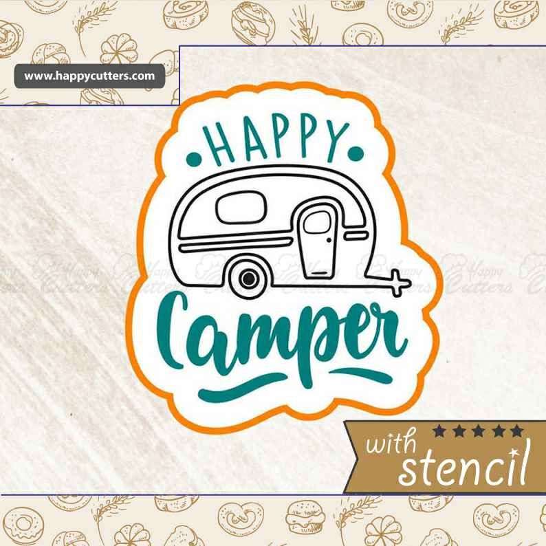 Happy Camper,                       letter cookie cutters, cursive letter cookie stamp, cursive letter fondant cutters, fancy letter cookie cutters, large letter cookie cutters, letter shaped cookie cutters, semi truck cookie cutter, j cookie cutter, mini christmas cookie cutters, vintage metal cookie cutters, playstation controller cookie cutter, cross shaped cookie cutter, tiger paw cookie cutter, music note fondant cutter,