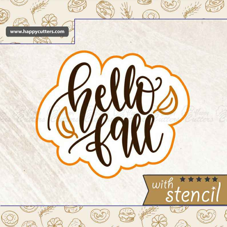 Hello Fall,                       letter cookie cutters, cursive letter cookie stamp, cursive letter fondant cutters, fancy letter cookie cutters, large letter cookie cutters, letter shaped cookie cutters, snail cookie cutter, food shape cutters, small pastry cutters, half circle cookie cutter, mini heart shaped cookie cutter, musical cookie cutters, subaru cookie cutter, rectangle cookie,