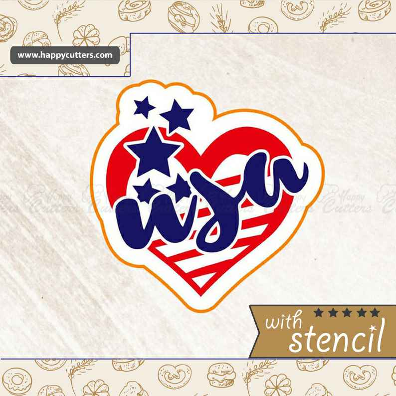USA Heart,                       letter cookie cutters, cursive letter cookie stamp, cursive letter fondant cutters, fancy letter cookie cutters, large letter cookie cutters, letter shaped cookie cutters, graduation cookie cutters, carousel cookie cutter, bambi cookie cutter, mickey mouse cookie cutter hobby lobby, martini glass cookie cutter, toy story cookie cutters, coffin cookie cutter, beagle cookie cutter,
