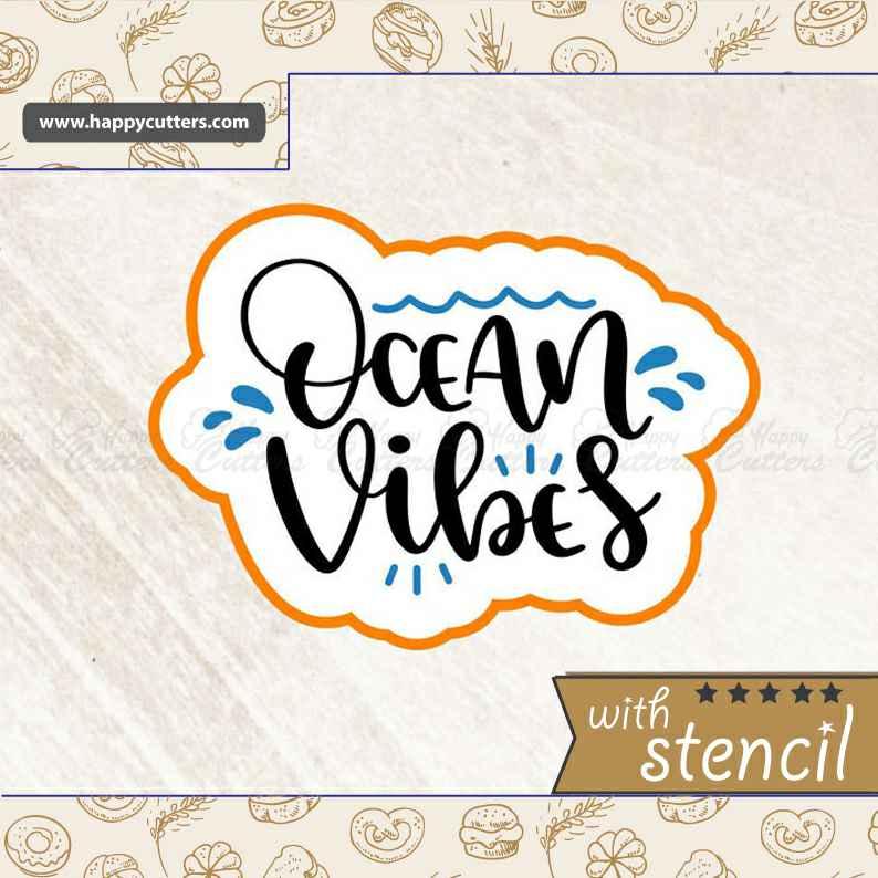 Ocean Vibes Cookie Cutter,                       letter cookie cutters, cursive letter cookie stamp, cursive letter fondant cutters, fancy letter cookie cutters, large letter cookie cutters, letter shaped cookie cutters, bear face cookie cutter, sweetleigh printed cookie cutters, small shape cutters, sugar belle cookie cutters, plaque cookie, elephant biscuit cutter, family dollar cookie cutters, one piece cookie cutter,