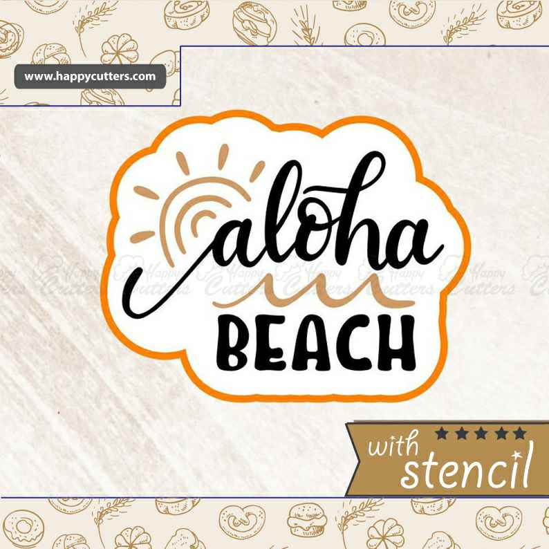 Aloha Beach Cookie Cutter,                       letter cookie cutters, cursive letter cookie stamp, cursive letter fondant cutters, fancy letter cookie cutters, large letter cookie cutters, letter shaped cookie cutters, vintage christmas cookie cutters, pinkfong cookie cutter, plastic cookie, new years eve cookie cutters, small shape cutters, 3 inch biscuit cutter, pastry cutter nz, motorbike cookie cutter,