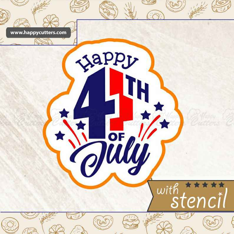 Happy Fourth of July Cookie Cutter,                       letter cookie cutters, cursive letter cookie stamp, cursive letter fondant cutters, fancy letter cookie cutters, large letter cookie cutters, letter shaped cookie cutters, wild animal cookie cutters, harry potter letter cutters, sunglasses cookie cutter, small heart shaped cutter, xmas cookie cutters, necktie cookie cutter, kate spade cookie cutters, rugrats cookie cutters,