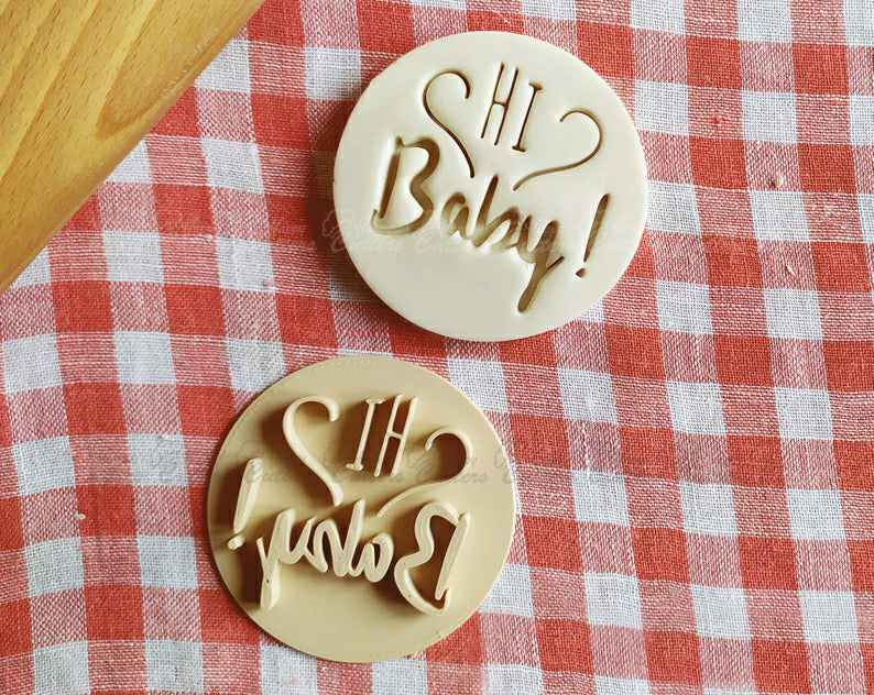 Hi Baby Stamp Embosser Cookie Cutter Pastry Fondant Dough Biscuit Baby Shower,                       letter cookie cutters, cursive letter cookie stamp, cursive letter fondant cutters, fancy letter cookie cutters, large letter cookie cutters, letter shaped cookie cutters, music note cookie, giant cookie cutters uk, engagement ring cookie cutter michaels, geometric cookie cutters, pomeranian cookie cutter, fast cookie cutters, betty crocker cookie cutter set, turkey cutter,
