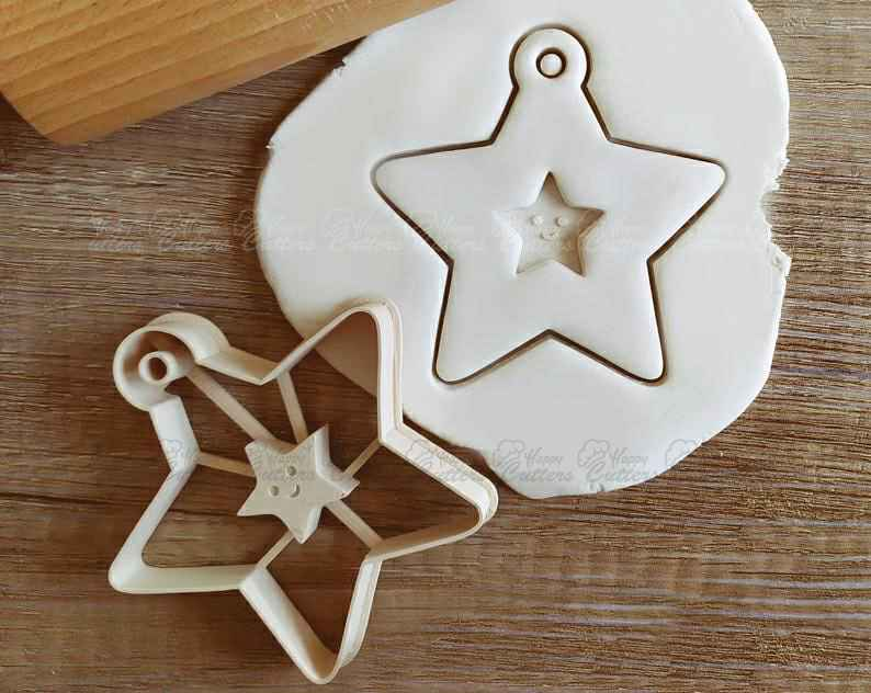 Star Christmas Cookie Cutter Pastry Fondant Dough Biscuit,                       star cookie cutter, star shaped cookie cutter, small star cookie cutter, star shape cutter, star fondant cutter, outer space cookie cutters, haunted house cookie cutter, christmas pastry cutters, batman fondant cutter, pretzel cutter, bear cutter, fancy letter cookie cutters, wedding cookie stamp, elephant shaped cookie cutter,