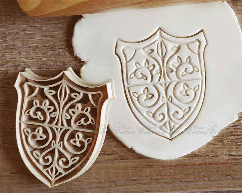 Shield Armor Medieval Fantasy RPG Cookie Cutter Pastry Fondant Dough Biscuit,                       pirate cookie cutter, knight cookie cutter, pirate ship cookie cutter, castle cookie cutter, crown cookie cutter, axe cookie cutter, snowflake cookie stamp, mickey mouse fruit cutter, sweet sugarbelle cookie cutters michaels, heart cookie cutter, guitar cookie cutter, football cookie cutter michaels, shape shifter cookie cutters, cat treat cookie cutters,