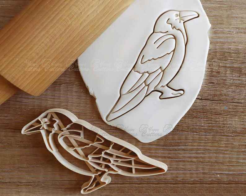 Raven Birb Bird Cookie Cutter Pastry Fondant Dough Biscuit,                       animal cutters, animal cookie cutters, farm animal cookie cutters, woodland animal cookie cutters, elephant cookie cutter, dinosaur cookie cutters, parrot cookie cutter, multi cookie cutter sheet, bubble guppies cookie cutters, cauldron cookie cutter, easter egg cookie cutter, crescent moon cookie cutter, crown cookie cutter walmart, eyelash cookie cutter,