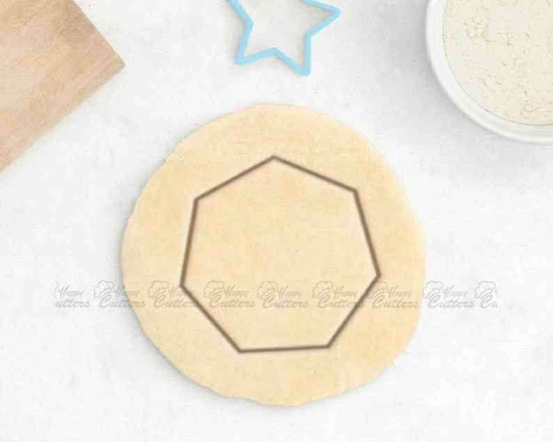 Geometric Cookie Cutter – Heptagon Cookie Cutter Minimalist Tile Geometry Gift Math Teacher Gift Hipster Cookie Cutter Circle Square Hexagon,                       geometric cookie cutters, square cookie cutter, square fondant cutter, triangle cookie cutter, circle cookie cutter, circle cake cutter, southwest cookie cutters, elephant cookie cutter hobby lobby, happy birthday cookie stamp, harry potter fondant cutters, voodoo cookie cutter, nutcracker cookie cutter, circle pastry cutter, shield cookie cutter,