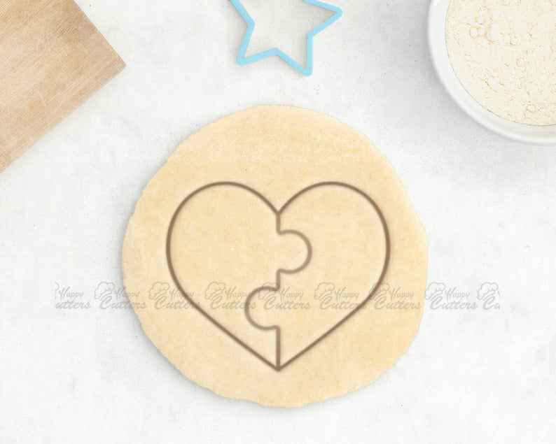 Puzzle Heart Cookie Cutter - Engagement Cookie Cutter Love Cookie Cutter Wedding Cookie Cutter Valentines Day Lover Gift for Her Forever,                       heart cookie cutter, heart shaped cookie cutter, heart cutter, heart shape cutter, mini heart cookie cutter, love heart cookie cutter, lightning cookie cutter, captain america cookie cutter, logo cutter, tiny cookie cutters, bendy cookie cutter, cookie cutter fortnite, bunny rabbit cookie cutter, mini fondant cutters,
