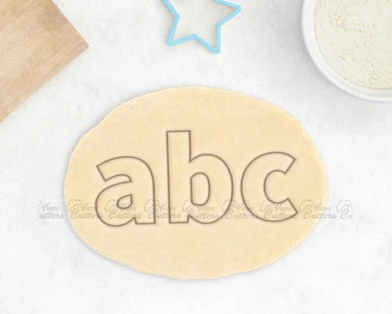 Alphabet Cookie Cutter Set - Lower Case Letter Cookie Cutter,                       alphabet cookie cutters, alphabet cookie stamps, large alphabet cookie cutters, mini alphabet cookie cutters	, number cookie cutters, number 1 cookie cutter, charlie brown cookie cutters, great dane cookie cutter, dog bone cookie cutter, dress cookie cutter, cookie stamps michaels, caterpillar cookie cutter, minnie mouse cookie cutter michaels, darth vader cookie cutter,