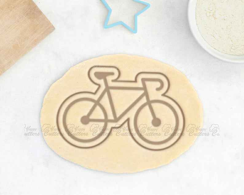 Bike Cookie Cutter – Bicycle Cookie Cutter Bicycle Gift Biker,                       airplane cookie cutter	, transport cookie cutters, ship cookie cutter, bicycle cookie cutter, bus cookie cutter, car cookie cutter, number two cookie cutter, 7 cookie cutter, kroger cookie cutters, hobby lobby christmas cookie cutters, sweet creations cookie cutters, possum cookie cutter, cursive letter fondant cutters, the cookie cutter company,